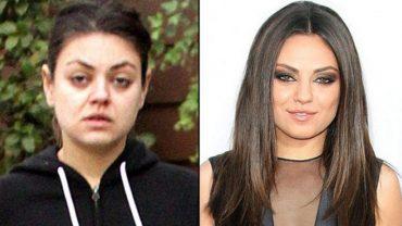 Gwiazdy i celebryci to zwykli ludzie, z takimi samymi niedoskonałościami jak my. Wystarczy tylko spojrzeć na ich zdjęcia bez makijażu