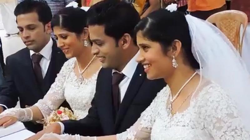 Bracia bliźniacy poślubili hinduskie bliźniaczki, jednak nie to jest najdziwniejsze. Zobacz, kto udzielił im sakramentu!