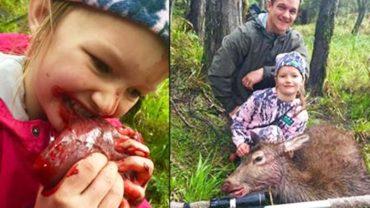 Ojciec pozwolił, aby jego córka zjadła ciepłe serce upolowanego jelenia. To straszne, ale wydarzyło się naprawdę