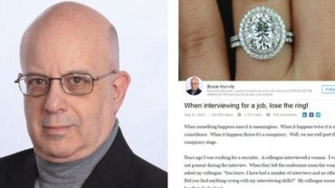 Profesjonalny rekruter powiedział, dlaczego kobiety nie powinny zakładać pierścionka zaręczynowego na rozmowy o pracę…