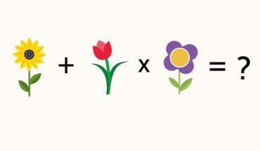 Podchwytliwa zagadka matematyczna z kwiatkami. Sprawdźcie, czy uda Wam się ją rozwiązać