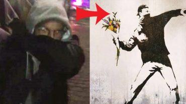 Banksy został wreszcie przyłapany? Znany graficiarz został nagrany przez kobietę w Melbourne!
