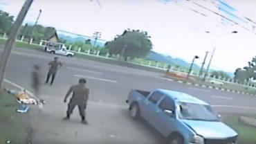 Kamera na na skrzyżowaniu nagrała tragiczny wypadek i coś, czego nikt nie spodziewał się zobaczyć