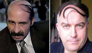 Nie wszyscy faceci potrafią pogodzić się z łysieniem, więc próbują kamuflować swój brak włosów. Efekty? Zabawne i żenujące