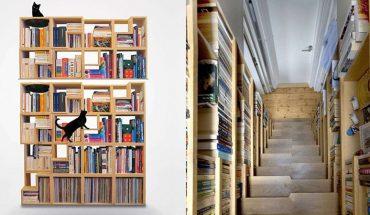 Uwielbiasz czytać? Wśród tych półek zapełnionych książkami poczułbyś się jak w raju!