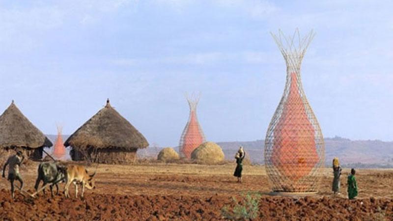 Europejscy architekci zaprojektowali wieżę pozyskującą wodę z powietrza, która może rozwiązać problem suszy na świecie