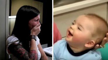 Ci ludzie po raz pierwszy usłyszeli dźwięki i ludzką mowę. Ich reakcje poruszają do łez