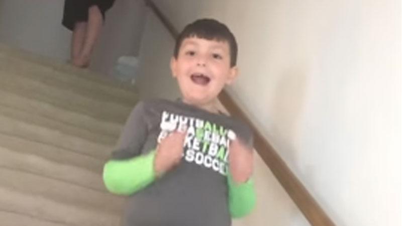 Siedmioletni Benjamin po 4 latach wygrał walkę z rakiem. Zobaczcie jego radość, gdy mama przekazała mu tę dobrą wiadomość
