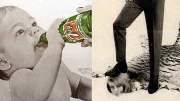 Te reklamy w latach 50. XX wieku przyciągały klientów. Dzisiaj na pewno nie przeszłyby cenzury