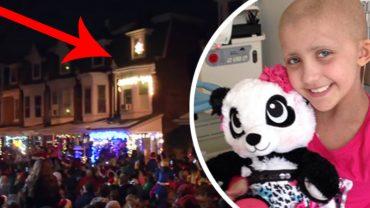 Umierająca na białaczkę dziewczynka marzyła, by ostatni raz usłyszeć kolędników. Pod jej dom przybyło 10 tysięcy osób!