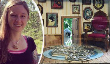 Utalentowana ilustratorka tak kocha ptaki, że buduje dla nich piękne domki-karmniki