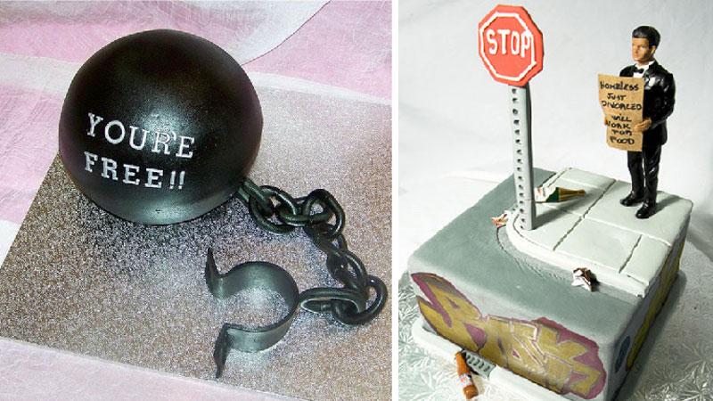 Imprezy z okazji rozwodu są coraz popularniejsze, więc powstał nowy gatunek wypieków: torty rozwodowe