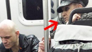 Agresywny narkoman awanturował się w metrze. Nikt nie zareagował, aż nagle zaczepiła go ta staruszka, robiąc coś bardzo wzruszającego
