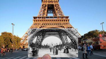Francuski artysta połączył fotografie sprzed 100 lat ze współczesnymi zdjęciami, a afekt w niezwykły sposób pokazuje upływ czasu w Paryżu