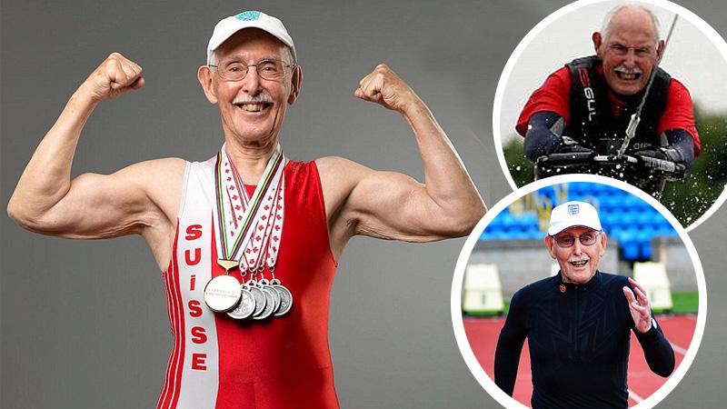 """Ma 97 lat i jest mistrzem sprintu. Takiej kondycji może mu pozazdrościć niejeden mężczyzna """"w sile wieku""""!"""