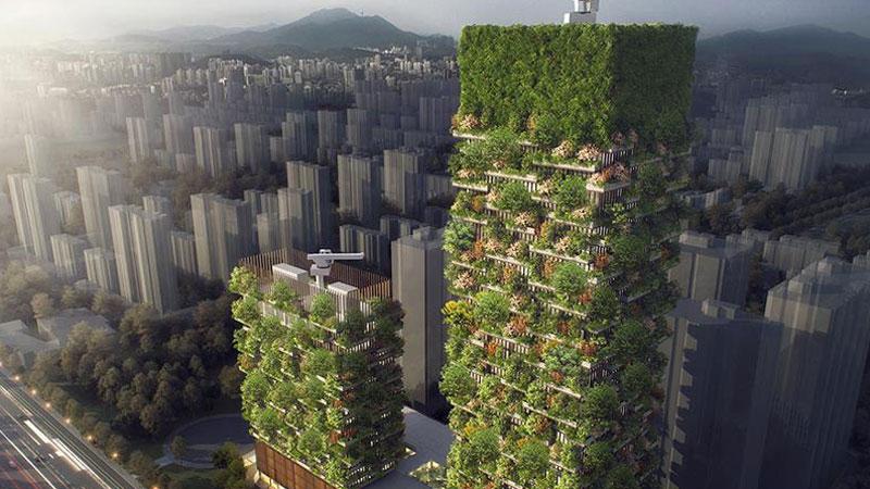 Jakość powietrza w metropoliach jest tak słaba, a deficyt przyrody tak duży, że w europejskich i azjatyckich miastach powstają pionowe lasy!