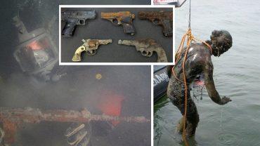 Broń, rzeźby, pamiątki po rewolucji a nawet stare samochody… To nie zbiór ze sejfu gangstera, ale skarby z dna rzeki!