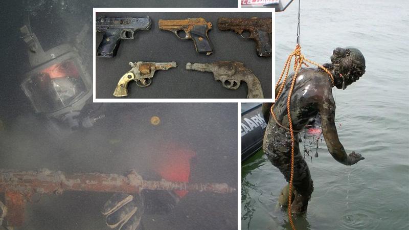 Broń, rzeźby, pamiątki po rewolucji a nawet stare samochody... To nie zbiór ze sejfu gangstera, ale skarby z dna rzeki!