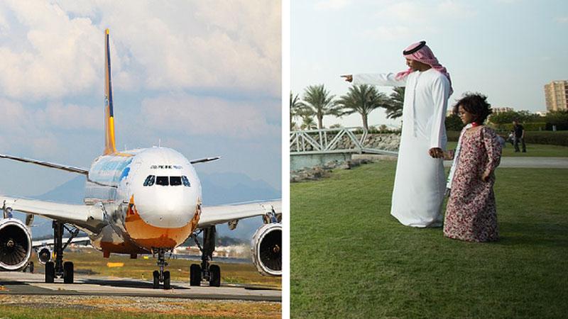 Arabski szejk wykupił aż 80 biletów na lot samolotem. Kiedy przyprowadził swoich pasażerów, od razu stało się jasne dokąd leci