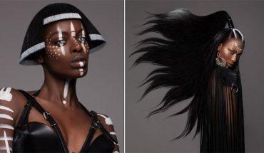 Te szalone fryzury inspirowane magią Afryki to dzieło Lisy Farrall, nietuzinkowej fryzjerki, która z układania włosów uczyniła sztukę