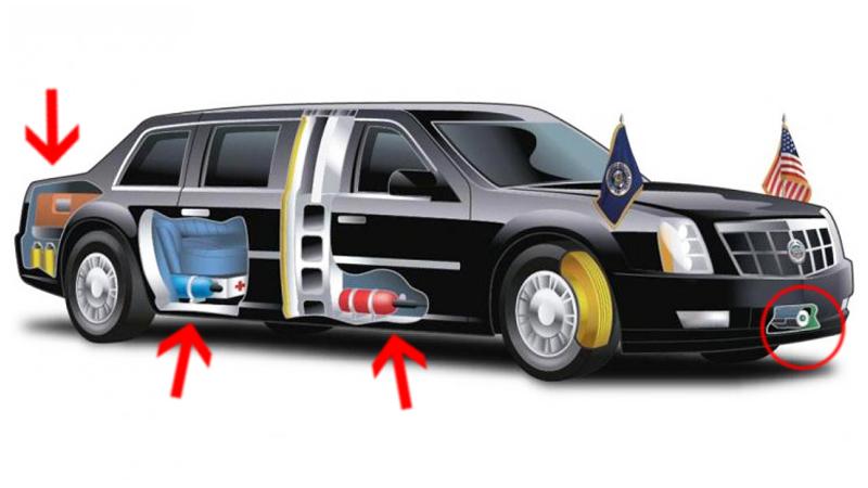 """Zaskakujące fakty na temat """"Bestii"""" - opancerzonego samochodu, którym porusza się Donald Trump!"""