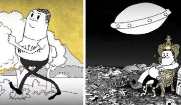 Ten animowany film trwa niecałe 4 minuty, ale do głębi porusza i zasmuca, bo pokazuje jak głupi i zachłanny jest człowiek