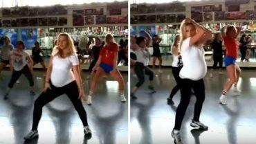 Christina jest w zaawansowanej ciąży, ale nie zwalania tempa i wciąż tańczy hip-hop! Inne matki są przerażone jej zachowaniem. Słusznie?