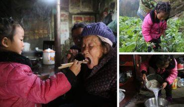 Ta pięciolatka sama opiekuje się 92-letnią prababcią, po tym jak porzuciła je matka. Poznaj historię dzielnej dziewczynki, której życie nie rozpieszcza