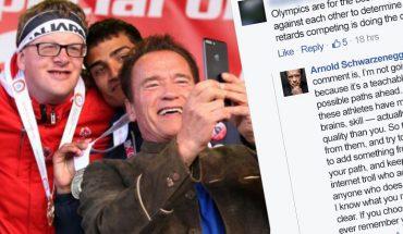 Kiedy internetowy troll zaatakował uczestników paraolimpiady, Arnold Schwarzenegger bez wahania zmiażdżył go w komentarzu