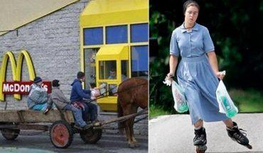 Amisze są wśród nas i tak jak my odwiedzają McDonalda! Zobaczcie 10 prześmiesznych obrazków z codziennego życia tej religijnej wspólnoty