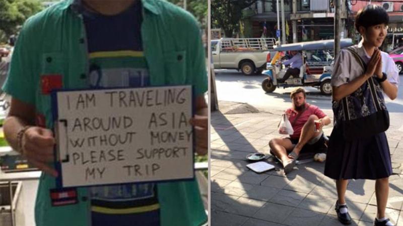 Ci młodzi ludzie wyjeżdżają do Azji, by żebrać na ulicach. Nowy kaprys zmanierowanych bogaczy oburza Azjatów!