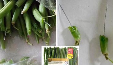 Angielska sieć hipermarketów wycofuje z obrotu fasolkę szparagową po tym, jak wewnątrz warzyw klienci zaczęli znajdować kilkucentymetrowe igły. Uważajcie na to, co jecie!