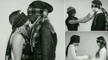 8 osób poproszono, by z zasłoniętymi oczami pocałowały się z nieznajomą osobą. Eksperyment sprawdzał, czy można zakochać się do pierwszego pocałunku