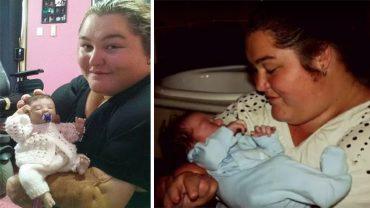 Zapalenie opon mózgowych odebrało jej nogi i dłonie, ale nie instynkt macierzyński. Prawdziwych dzieci nie ma, więc opiekuje się sztucznymi…