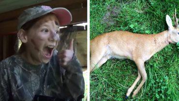 Ojciec zabrał córkę na polowanie. Gdy na horyzoncie pojawiła się sarna, dziewczynka zrobiła coś naprawdę odrażającego!