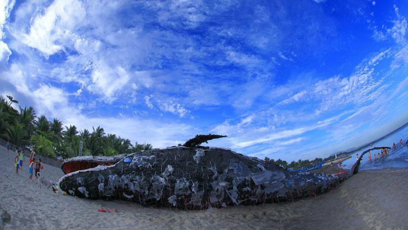 Filipińczycy zobaczyli na plaży zwłoki wieloryba, ale gdy podeszli do niego bliżej, zorientowali się, że nie był to typowy mieszkaniec morskich głębin