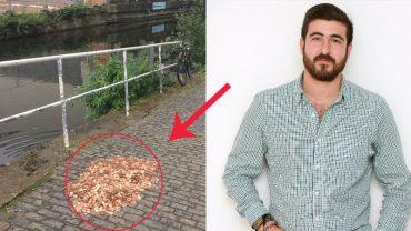 Artysta zostawił 15 tysięcy monet na chodniku w Londynie, by sprawdzić, co z tym zrobią mieszkańcy miasta. To, co uczynili, totalnie go zaskoczyło!