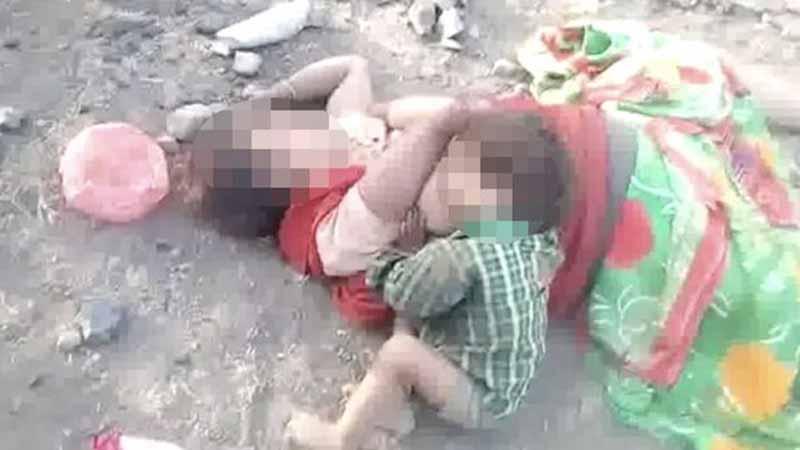 Ta scena łamie serce - maleńkie dziecko ze wszystkich sił próbuje obudzić matkę, po chwili wszyscy zaczynają rozumieć, że kobieta nie żyje