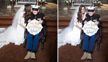 """92-letni staruszek zrobił coś wyjątkowego dla swojej bratanicy. Były marynarz wystąpił na jej ślubie w roli """"czegoś niebieskiego"""". Swoim gestem wzruszył całą rodzinę!"""