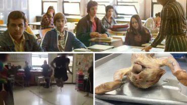 Uczniowie podczas lekcji biologii robili kotu sekcję, ale zamiast skupić się na nauce, wyciągnęli ze zwierzęcia jelita i zrobili z nich skakankę! Wszystko za przyzwoleniem nauczyciela