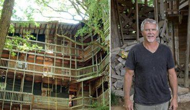 Horace przez 15 lat budował największy domek na drzewie, gdy dowiesz się, dlaczego to robił, mocno się zdziwisz