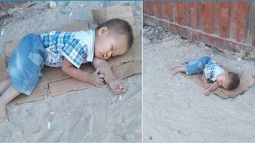 Ten smutny obraz wywołał łzy w oczach internautów z całego świata. Losem 2-latka zainteresował się sam prezydent!