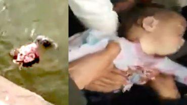 Kierowca nie wahał się ani chwili, gdy zobaczył, że kobieta wyrzuca dziecko z mostu do rwącej rzeki, wskoczył za nim