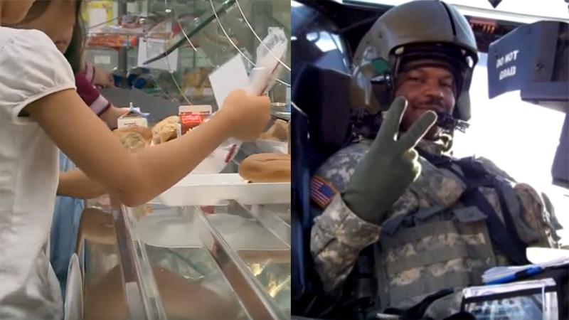 4-letnia dziewczynka nie miała pieniędzy, więc kucharka wyrzuciła jej lunch do śmieci. Wtedy niespodziewanie do akcji wkroczył ten weteran