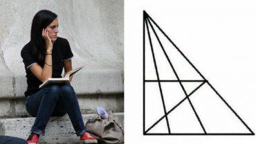 Ile trójkątów widzisz na tym rysunku? Osoby z IQ powyżej 120 najczęściej doliczają się 18 figur, ale jest ich znacznie więcej…