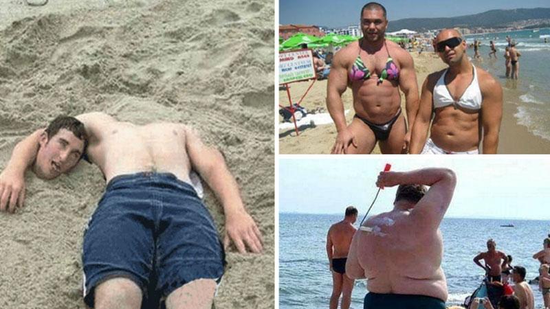 Dziwne i zabawne zdjęcia z plaż. Niektórzy chyba zapominają, że to miejsce publiczne i zachowują się zbyt swobodnie