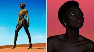 """Poznajcie """"Królową Czerni"""", modelkę która swą skórą zahipnotyzowała cały świat modelingu i mody. Czy zrobi większą karierę niż Naomi Campbell?"""
