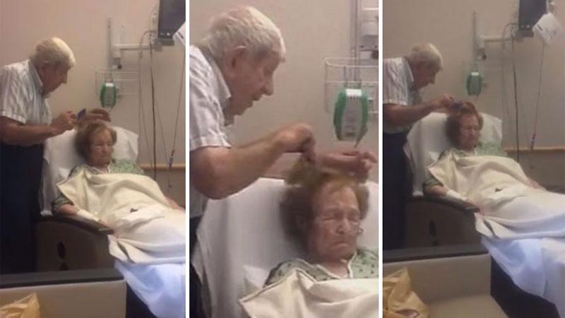 Prawdziwa miłość z wiekiem nie słabnie, a wzmaga się - wystarczy spojrzeć na tego staruszka przy łóżku chorej żony, by mieć pewność, że tak jest