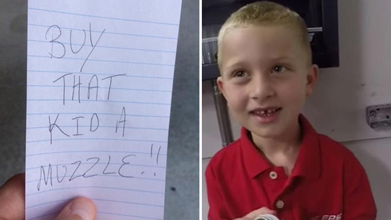 """""""Kup temu dziecku kaganiec!"""" - napisał na kartce mężczyzna, któremu przeszkadzało zachowanie autystycznego chłopca. Co tak rozsierdziło autora okrutnego wpisu?"""