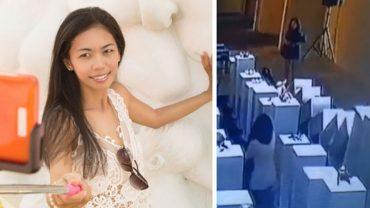 Kobieta robiąc sobie w muzeum zdjęcie, potrąciła eksponaty. To selfie natychmiast okrzyknięto najdroższym na świecie, gdyż starty wyceniono na 200 tysięcy dolarów!